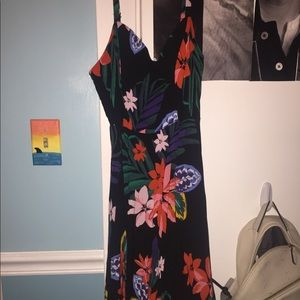 Black Tropical Floral Sundress From Old Navy